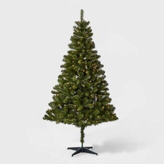 6ft Pre-lit Artificial Christmas Tree Alberta Spruce Clear Lights - WondershopTM
