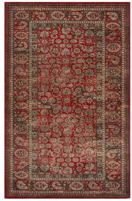 Pottery Barn Marguerite Printed Rug - Red Multi