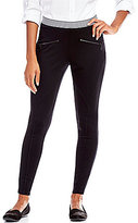 Intro Pull-On Stripe Waistband Seam Detail Double Knit Leggings