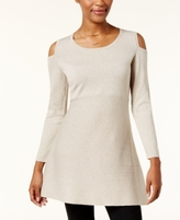 Style&Co. Style & Co Style & Co Petite Cold-Shoulder Tunic Sweater, Created for Macy's