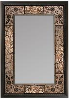 Deco Mirror 25.5 in. x 37 in. French Tile Rectangle Mirror in Dark Brown