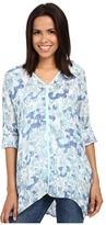 Miraclebody Jeans Shea Waterlily Print Tunic w/ Body-Shaping Inner Shell