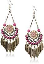 Desigual Etnik 51G55A13022U Women's Stainless Steel Earrings 8.5 cm