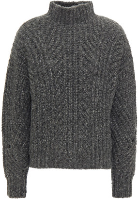 IRO Metallic Ribbed-knit Turtleneck Sweater