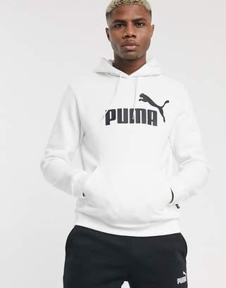Puma Essentials pullover hoodie in white