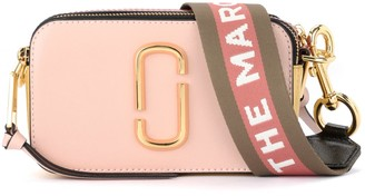Marc Jacobs Snapshot Small Camera Bag Shoulder Bag In Pink Saffiano Leather