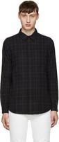 John Elliott Black Plaid Shirt