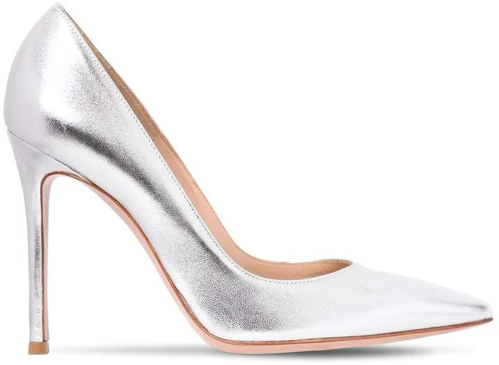 Gianvito Rossi 100mm Metallic Leather Pumps