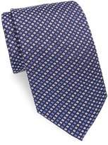 Brioni Men's Mini Check Print Silk Tie