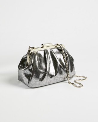 Ted Baker DEBZI Metallic crinkle frame evening bag