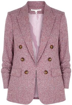Veronica Beard Beacon Dickey Pink Tweed Blazer