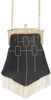 Whiting & Davis 'Heritage Chandelier' Mesh Crossbody Bag - Black