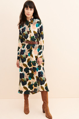 Ottod'Ame Abstracted Floral Shirtdress