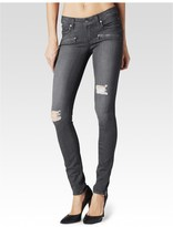 Paige Jill Zip Ultra Skinny - Luna Grey Destructed