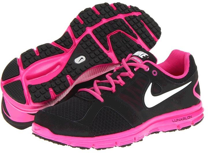 Nike Lunar Forever 2 (Big Kid) (Black/Fusion Pink/White) - Footwear