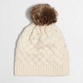 J.Crew Factory Faux-fur pom-pom hat