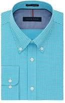 Tommy Hilfiger Men's Non Iron Slim Fit Multi-Gingham Buttondown Collar Dress Shirt