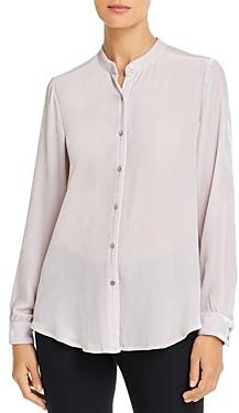 Eileen Fisher Velvet Button-Down Blouse