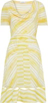 Altuzarra Lucia Cutout Draped Striped Silk Crepe De Chine Dress