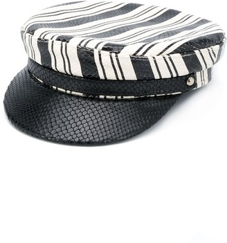 Manokhi Striped Baker Boy Hat