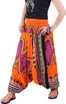 Villas - Dashiki Collection- 2 in 1 Harem Pants Hippie Boho Gypsy Beach Trousers Jumpsuit /DAP-003