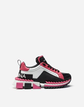 Dolce & Gabbana Multi-Colored Calfskin Super Queen Sneakers