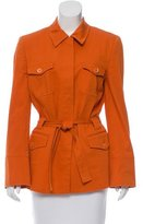Carolina Herrera Belted Pointed Collar Jacket