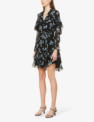 Diane von Furstenberg Martina floral print chiffon mini dress