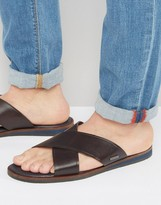 Ted Baker Punxel Leather Cross Over Sandals