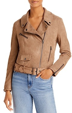 French Connection Faux Suede Biker Jacket