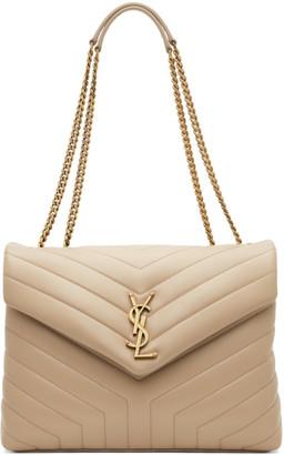 Saint Laurent Beige Medium Loulou Bag