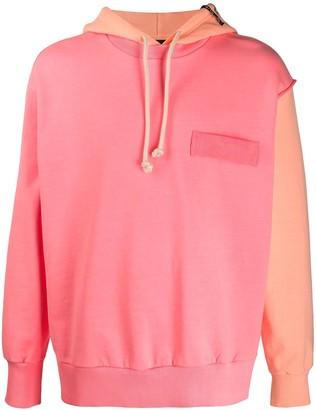 Diesel raw-edges colour-block hoodie