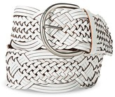 Merona Women's Wide Woven Belt - White M