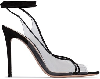 Denise illusion wrap-around sandals by Gianvito Rossi, available on shopstyle.com for $615 Kim Kardashian Shoes Exact Product