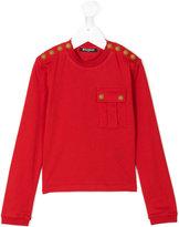Balmain Kids button-embellished top