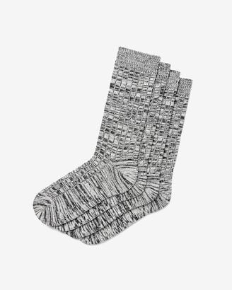 Express 2 Pack Marled Ribbed Sweater Socks