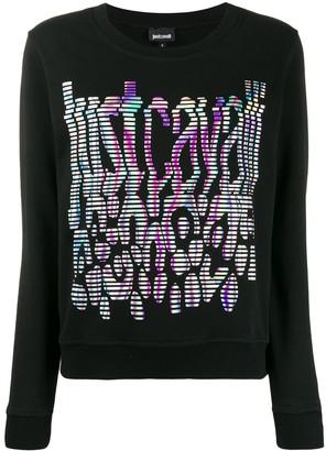 Just Cavalli Color-Spectrum Logo Sweatshirt