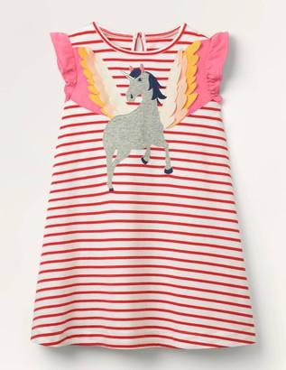 Flutter Sleeve Applique Dress
