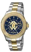 Roberto Cavalli Womens Two-toned Silver/gold Watch With Blue Dial.