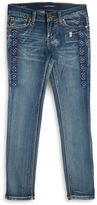 Vigoss Girls 7-16 Embroidered Skinny Jeans