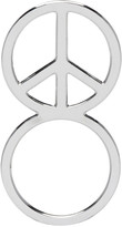 Haal Sliver Peace Sign Ring