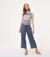LOFT Chambray Belted Culottes