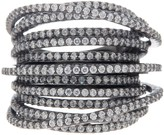 Lafonn Black Rhodium Over Sterling Silver Micro Pave Simulated Diamond Multiple Crossing Band