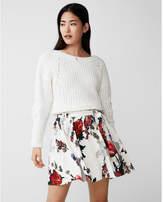 Express floral sash tie mini skirt
