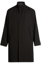 Yohji Yamamoto Funnel-neck Wool-gabardine Coat