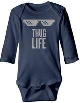 ZJSXYLG Thug Life Baby Onesie Baby Long Sleeve Painted Design Funny Baby Bodysuit