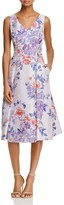 Adrianna Papell Sleeveless Floral Jacquard Dress