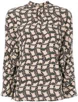 Prada printed silk blouse