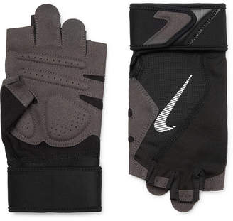 Nike Microsuede, Mesh And Jersey Training Gloves