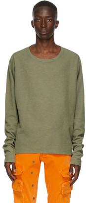 Greg Lauren Khaki Thermal Sweatshirt